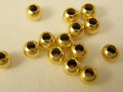 crimping bead 1.2mm, silver gold plated, 100 pcs