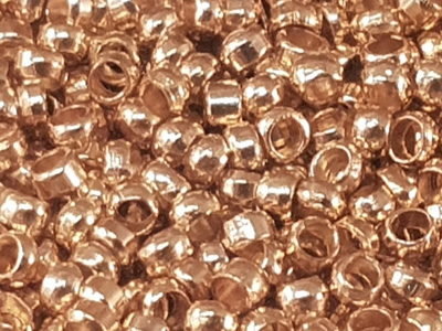 crimping bead 1.1mm, gold plated, 200 pcs