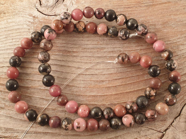 rhodonite necklace 6mm