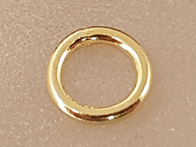 ring 7mm, closed, silver gold plated
