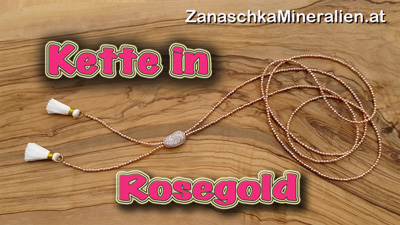 Haematite necklace rosegold faceted 2/120cm