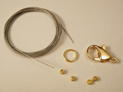 claspset for wire, goldplated