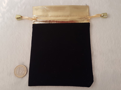 jewelry bag velor black 16x12cm