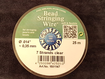 bead stringing wire 0.35mm/25m/7str