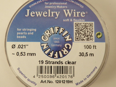 Jewelry Wire 0.53mm/30.5m/19str