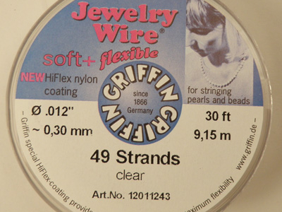 Jewelry Wire 0.30mm/9.15m/49str