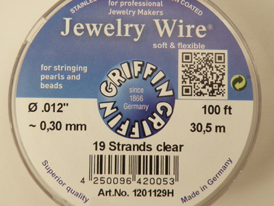 Jewelry Wire 0.30mm/30.5m/19str