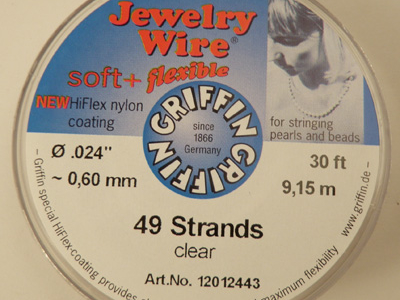Jewelry Wire 0.60mm/9.15m/49str