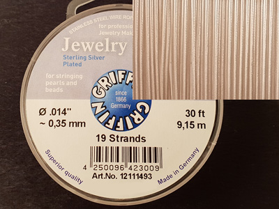 Jewelry Wire 0.35mm/9.15m/19str 925 VERSILBERT