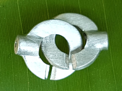 clasp 12x20mm silver rhodium plated