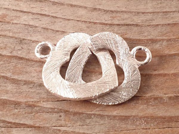 clasp 15x30mm silver