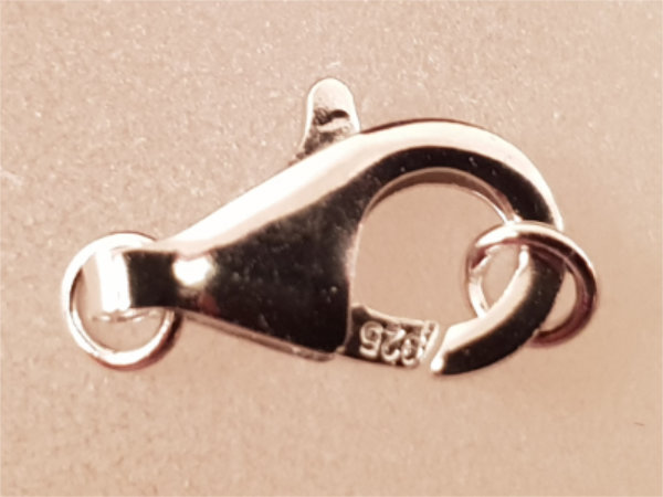 clasp 13mm silver rhodium plated