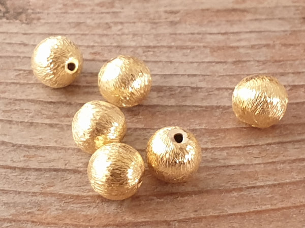 finding, 6mm, silver gold plated
