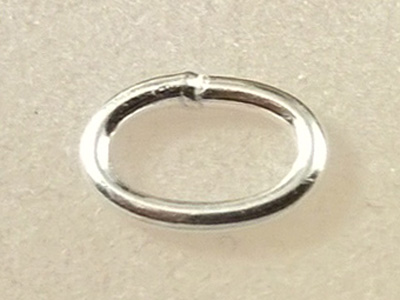 ring 5x7mm, closed, silver