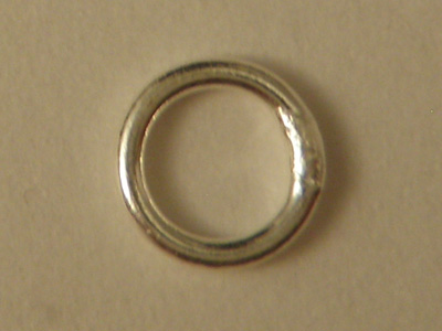 ring 6mm, closed, silver