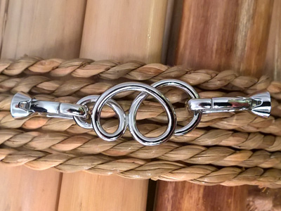 clasp 15x54mm silver rhodium plated