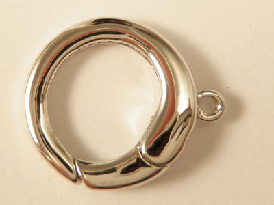 clasp 14mm silver rhodium plated
