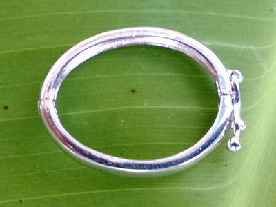 clasp 17.5x23mm silver rhodium plated