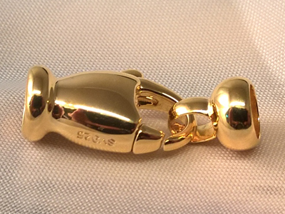 clasp 11x23mm silver gold plated