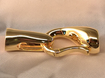 clasp 14x38mm silver gold plated