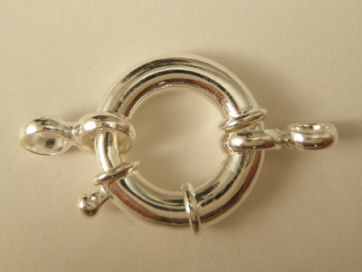 clasp 20mm silver