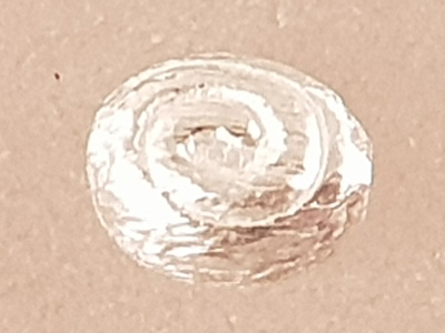 finding, 4x6mm, silver