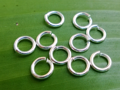 jumpring 6mm (10 pcs), brass silver plated