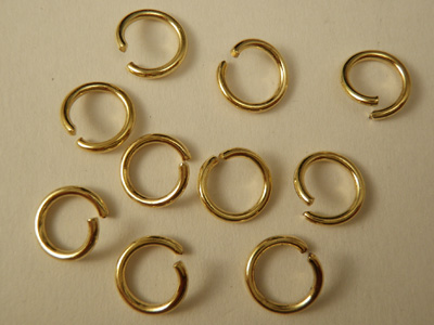 jumpring 10mm (10 pcs), brass gold plated