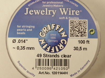 Jewelry Wire 0.35mm/30.5m/49str