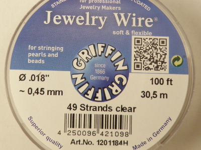 Jewelry Wire 0.45mm/30.5m/49str