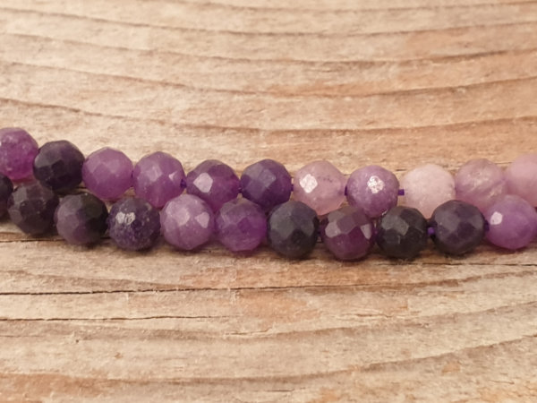 sugilite necklace faceted 4mm