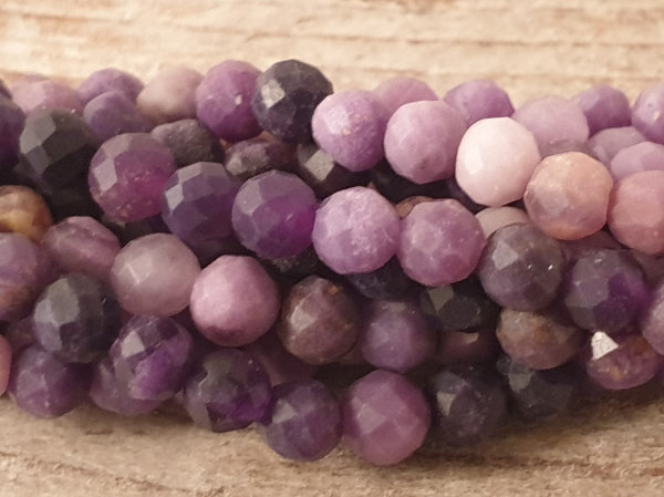 sugilite necklace faceted 3mm