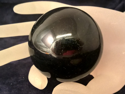 black tourmaline sphere 57mm