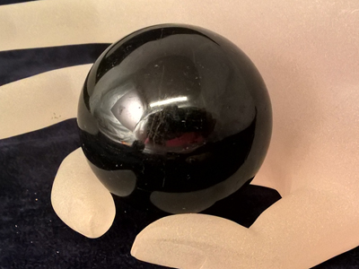 black tourmaline sphere 47mm