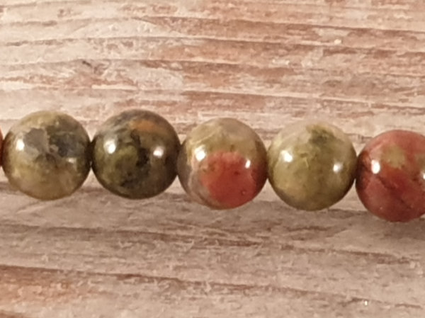 unakite necklace 4mm