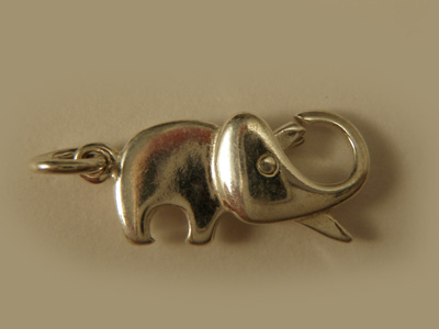 clasp elephant 19mm silver