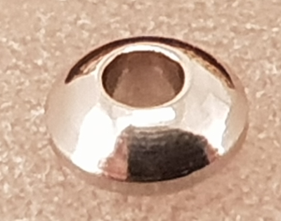 finding, disc 4x2mm, stainless steel