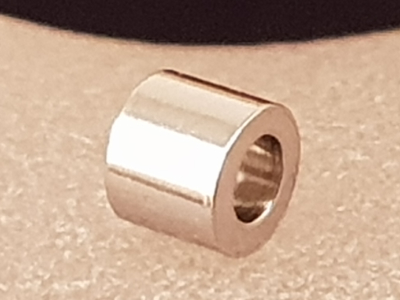 finding, cylinder 3x2mm, stainless steel