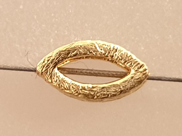 finding, 4x7mm, silver gold plated