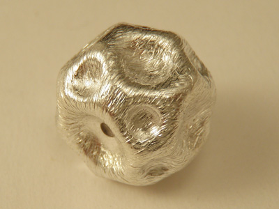 finding, cube 16x12mm, silver