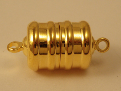 magnetic clasp 10x10mm gold plated, glued