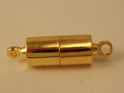magnetic clasp 5x5mm gold plated, glued