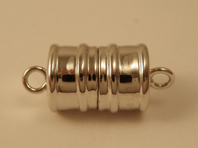 magnetic clasp 8x16mm Silver rhodium plated, glued