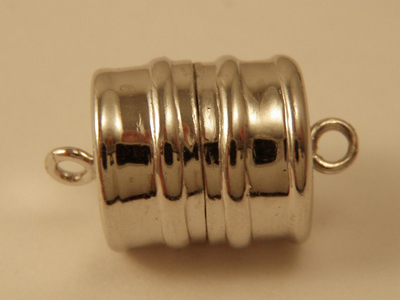 magnetic clasp 10x15mm Silver rhodium plated, glued