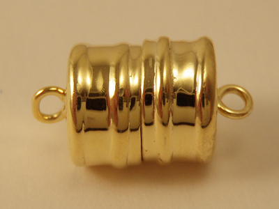 magnetic clasp 10x16mm Silver gold plated, glued