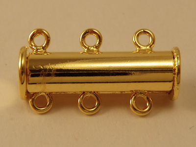 magnetic clasp 5x19mm gold plated, 3-row