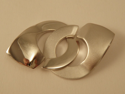 clasp 20x45mm silver rhodium plated