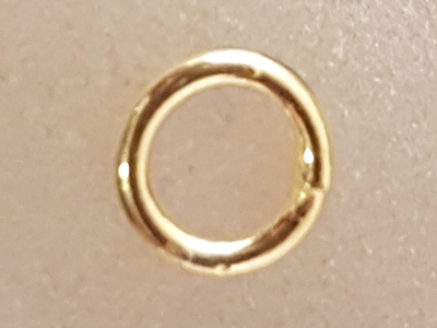 ring 5mm, closed, silver gold plated
