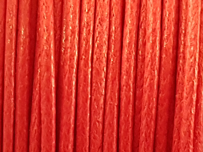 waxed cotton cord, red, 1.0mm/20m
