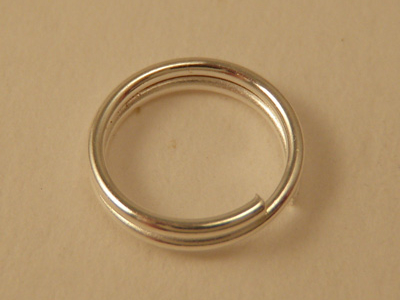 ring 8mm (10 pcs), silver plated